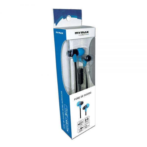 008644_3 Fone de Ouvido para Smartphone - Preto/Azul MHP-1203/BKBL