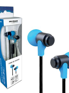 008644_2 Fone de Ouvido para Smartphone - Preto/Azul MHP-1203/BKBL