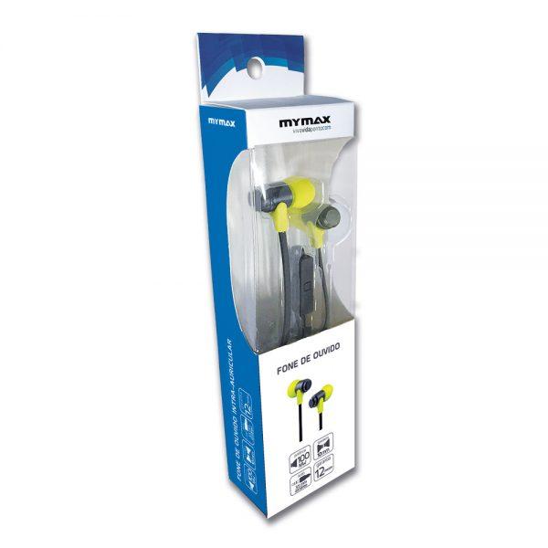 008645_3 Fone de Ouvido para Smartphone - Preto/Verde MHP-1203/BKGN