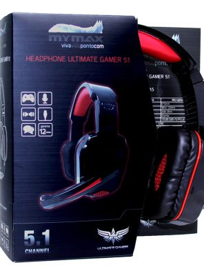 008646_2 Headphone Ultimate Gamer USB 2.25M Nylon - Preto/Vermelho - MHP-SP-X9/BKRD