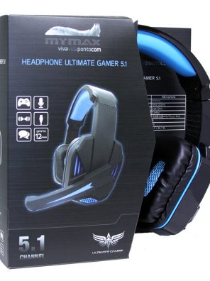 008647_2 Headphone Ultimate Gamer USB 2.25M Nylon - Preto/Azul - MHP-SP-X9/BKBL