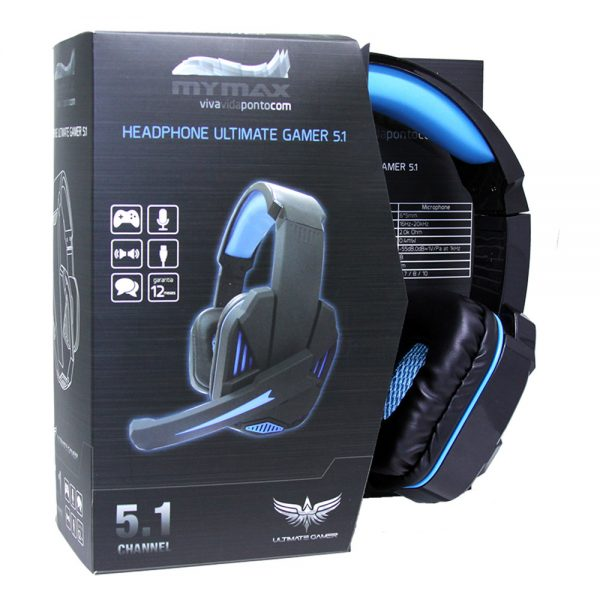 008647_2 Headphone Ultimate Gamer USB 2.25M Nylon - Preto/Azul - MHP-SP-X9/BKBL
