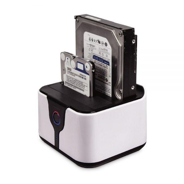 "008689_1 Dock Station USB 3.0 - HD Sata 2.5"" e 3.5"" - Branco/Preto MDCK-HD05U2/SL"