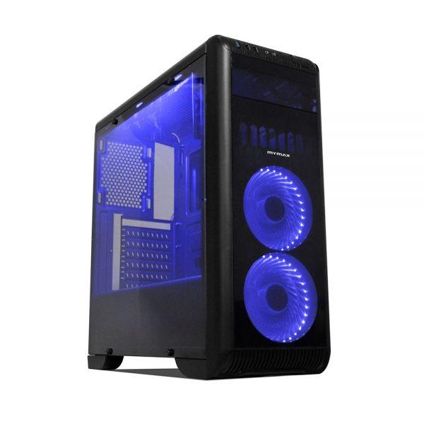 008727_1 GABINETE GAMER TORNADO C/ USB 3.0 - PRETO LED AZUL MCA-FC-T07A/BK
