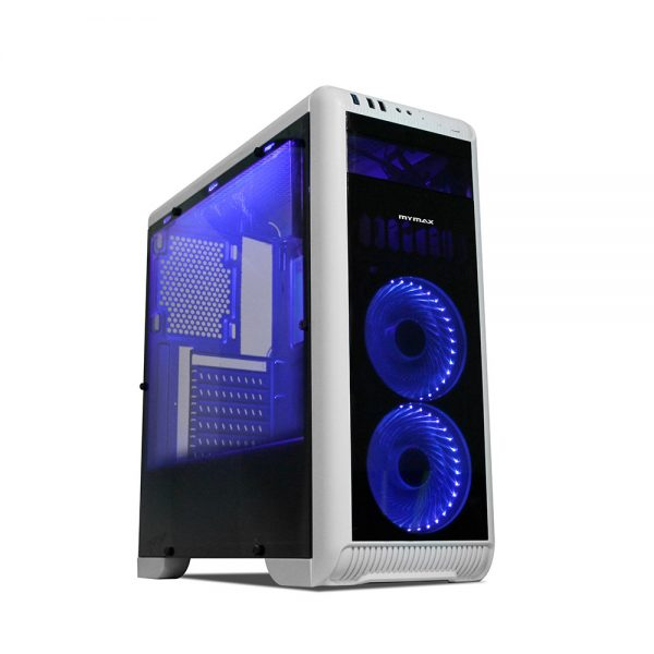 008728_1 GABINETE GAMER TORNADO C/ USB 3.0 - BRANCO LED AZUL MCA-FC-T07A/WH