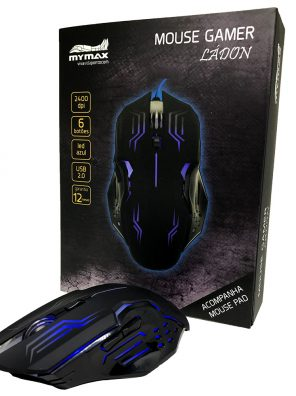 008738_3 Mouse Gamer Ládon 2400 DPI - Preto Led Azul - OPM-X15/BL