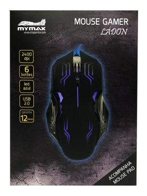 008738_4 Mouse Gamer Ládon 2400 DPI - Preto Led Azul - OPM-X15/BL