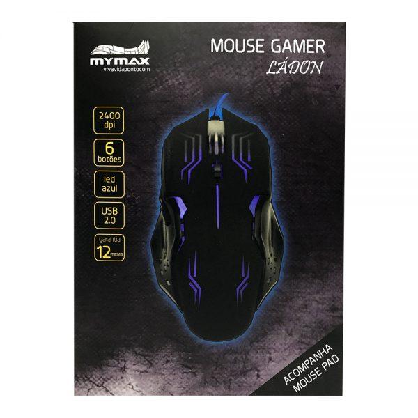 008738_4 Mouse Gamer Ládon 2400 DPI - Preto Led Azul - OPM-X15/BL