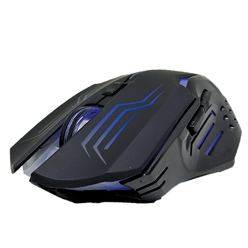 008738_5 Mouse Gamer Ládon 2400 DPI - Preto Led Azul - OPM-X15/BL