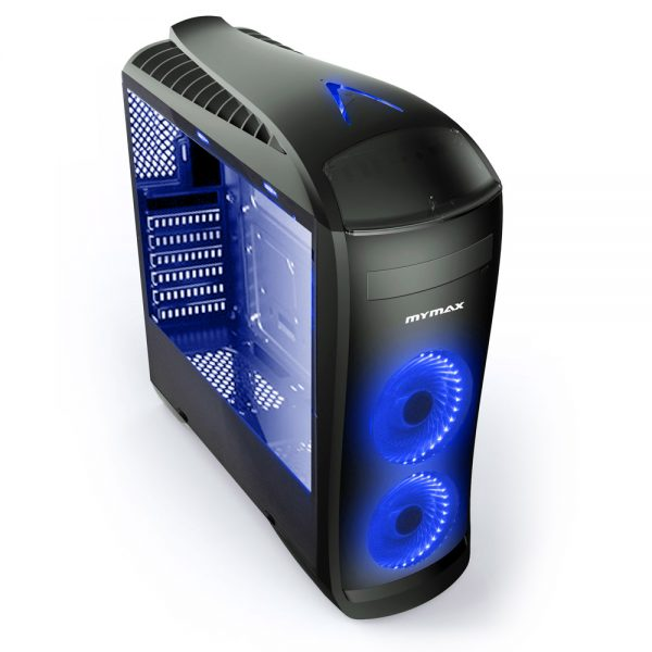008786_1 GABINETE GAMER PEGASUS C/ USB 3.0 - PRETO LED AZUL MCA-FC-CO07A/BK