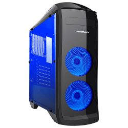 008786_2 GABINETE GAMER PEGASUS C/ USB 3.0 - PRETO LED AZUL MCA-FC-CO07A/BK