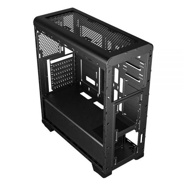 008786_4 GABINETE GAMER PEGASUS C/ USB 3.0 - PRETO LED AZUL MCA-FC-CO07A/BK