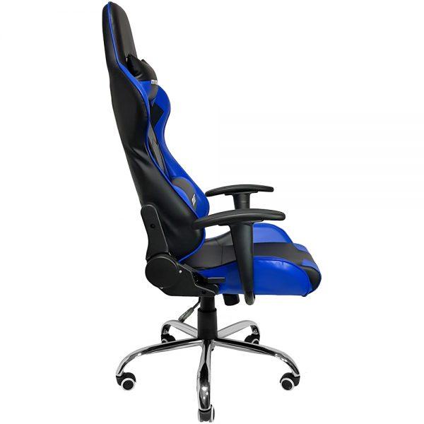 Cadeira Gamer MX7 Giratoria Preto e Azul
