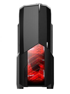 008848_3 GABINETE GAMER CENTAURO C/ USB 3.0 - PRETO LED VERMELHO MCA-KU-855B/RD