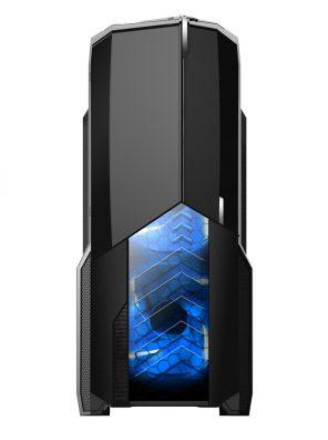 008849_3 GABINETE GAMER CENTAURO C/ USB 3.0 - PRETO LED AZUL MCA-KU-855B/BL