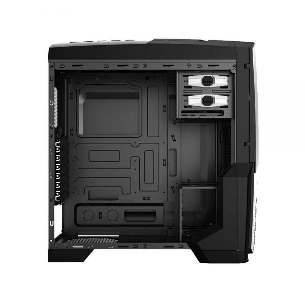 008849_6 GABINETE GAMER CENTAURO C/ USB 3.0 - PRETO LED AZUL MCA-KU-855B/BL