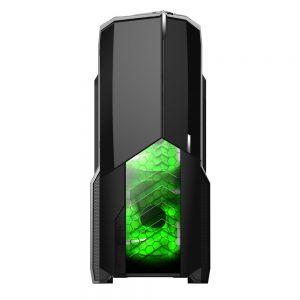 008850_3 GABINETE GAMER CENTAURO C/ USB 3.0 - PRETO LED VERDE MCA-KU-855B/GR