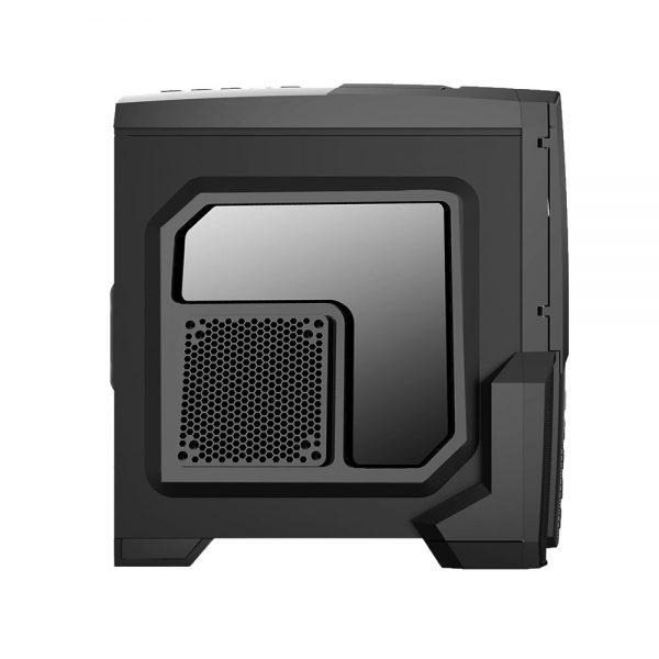 008850_5 GABINETE GAMER CENTAURO C/ USB 3.0 - PRETO LED VERDE MCA-KU-855B/GR