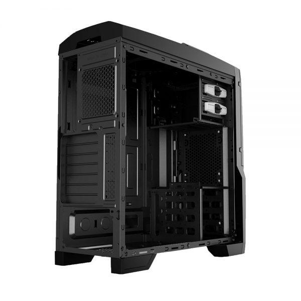 008850_6 GABINETE GAMER CENTAURO C/ USB 3.0 - PRETO LED VERDE MCA-KU-855B/GR