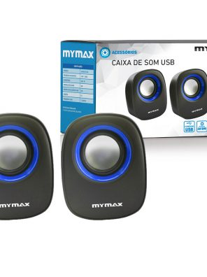 008860_3 Caixa de Som USB 6W RMS - Preto Azul - SPK-SP205/BL