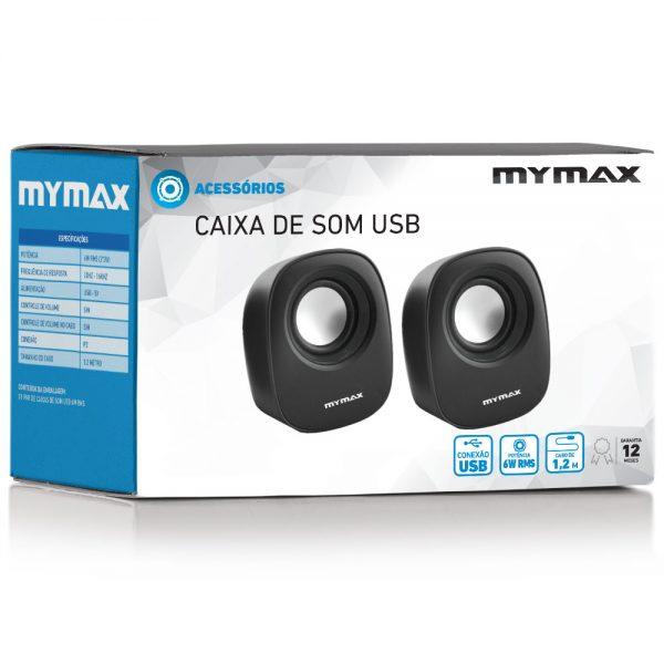 008861_4 Caixa de Som USB 6W RMS - Preto - SPK-SP205/BK