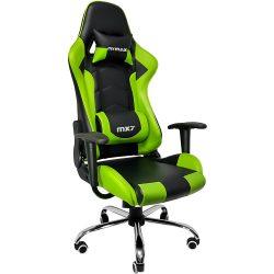 Cadeira Gamer MX7 Giratoria Preto e Verde