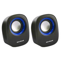 Caixa de Som USB 6W RMS - Preto Azul - SPK-SP205/BL