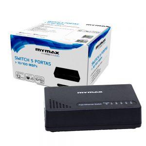 005613_3 Switch 5 Portas 10/100Mbps - Preto MSWI/S1005D