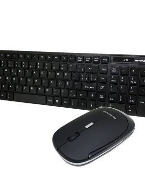 006826_1 Kit Teclado Multimídia e Mouse - Wireless - Preto MKC-MKB699W