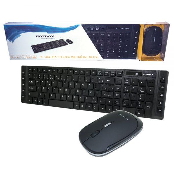 006826_5 Kit Teclado Multimídia e Mouse - Wireless - Preto MKC-MKB699W