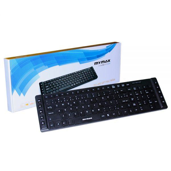 006969_1 Teclado Multimídia Slim Chocolate USB ABNT II - Preto MKM-MKB699/USB