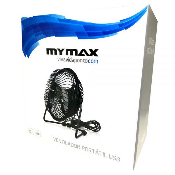 008067_3 Ventilador Portátil USB - Preto MYC/LX-888-NB