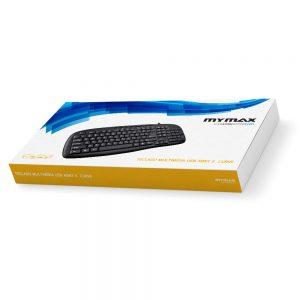 008202_4 Teclado Multimídia Slim Curve USB ABNT II - Preto MKS-VSC169/USB
