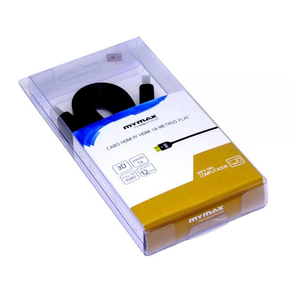008640_1 Cabo HDMI para HDMI 1.8m Flat V1.4 - Preto WSPHD-H14V023-18M