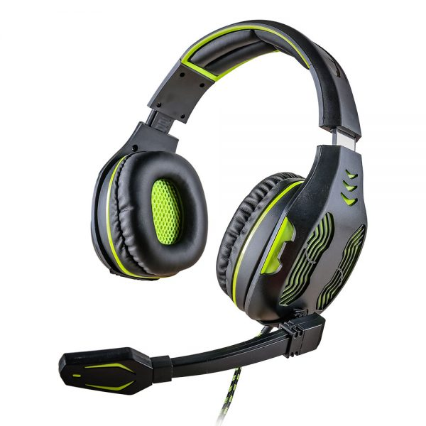 008918_1 - Headset Gamer 5.1 Centauro - MHP-SP-X13/BKGR - Preto/Verde
