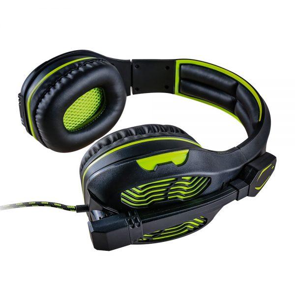 008918_4 - Headset Gamer 5.1 Centauro - MHP-SP-X13/BKGR - Preto/Verde