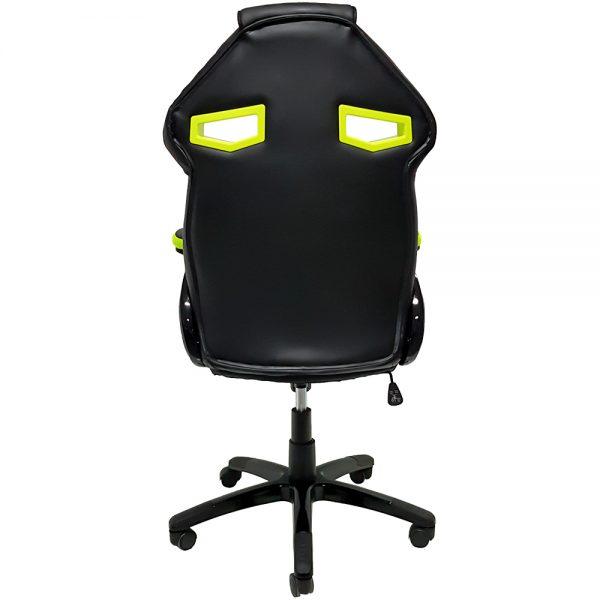 Cadeira Gamer MX1 Giratoria Preto e Verde
