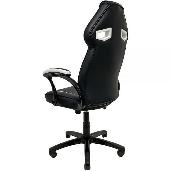 Cadeira Gamer MX1 Giratoria Preto e Branco