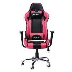 Cadeira Gamer MX7 Giratoria Preto/Rosa