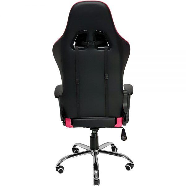 Cadeira Gamer MX7 Giratoria Preto e Rosa