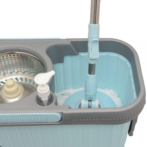 Balde Esfregao Spin MyMop Ultra Azul Rodas 2 Refis MYUD-WYL-36/BL