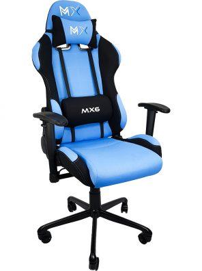 Cadeira Gamer MX6 Giratória Azul e Preto