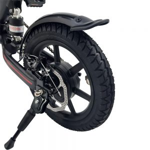 E-Bike Way Aro 14 com Pedal Autonomia até 35km – Preto
