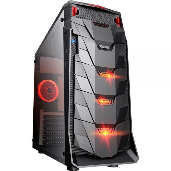 Gabinete Gamer Taurus USB 3.0 Preto LED Vermelho
