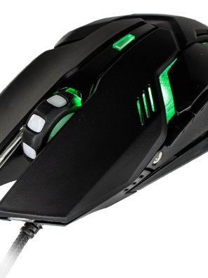 Mouse Gamer Arbor 2400 DPI com Led Verde