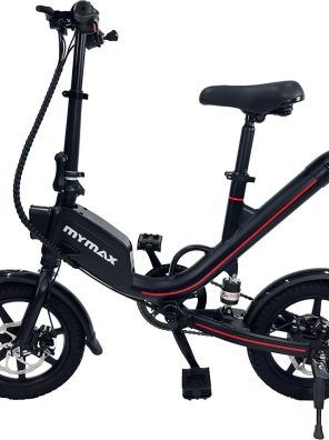 E-Bike Way 2.0 Aro 14 com Pedal Autonomia até 40km - Preto